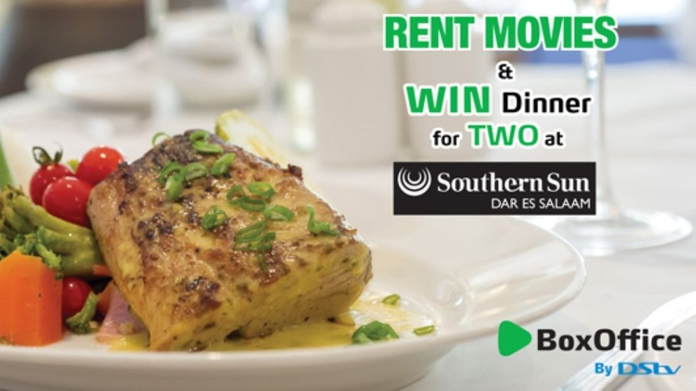 Rent and win BoxOffice Tanzania dinner for two at Southern Sun