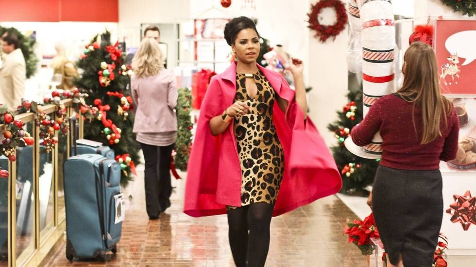 Ashanti in the Lifetime movie Christmas in the City.