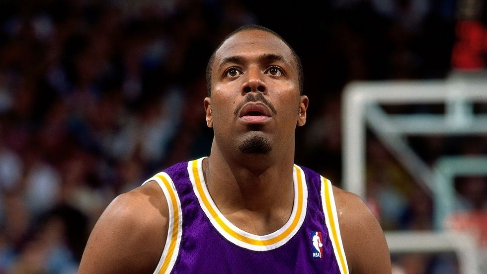 A Getty image of Cedric Ceballos of the LA Lakers.