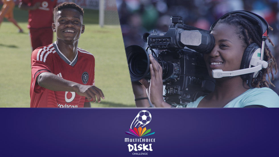 MultiChoice Diski Challenge with Camera Operator and Soccer Player