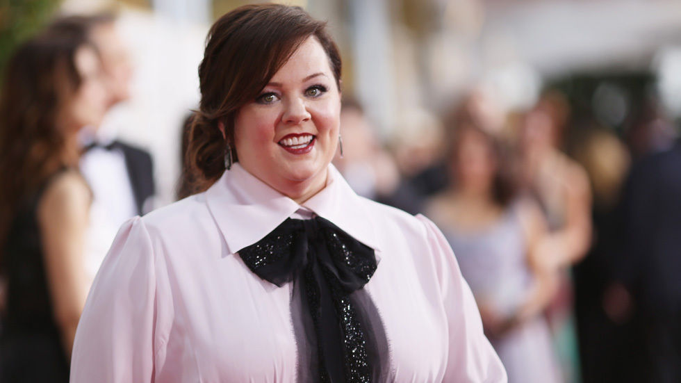 Melissa McCarthy on the Golden Globes Red carpet.