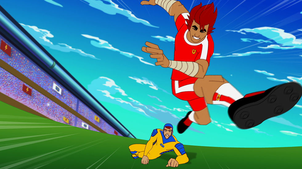 An image of soccer players for Supa Strikas