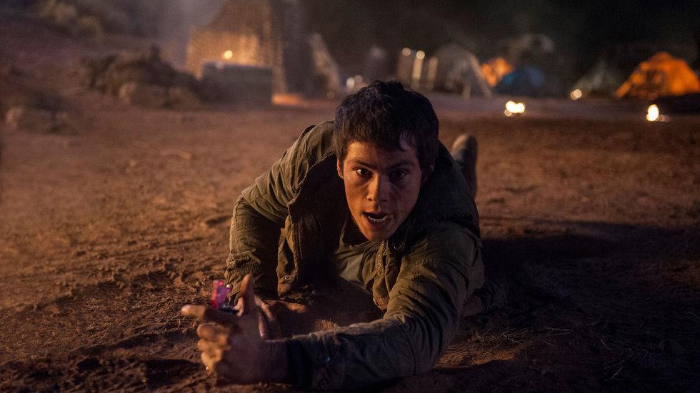 Dylan O'Brien in Maze Runner: The Scorch Trials.