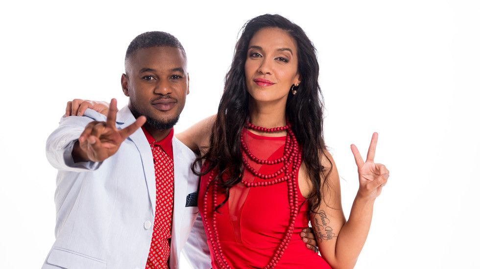 Lungile and Stacy on M-Net's The Voice SA.