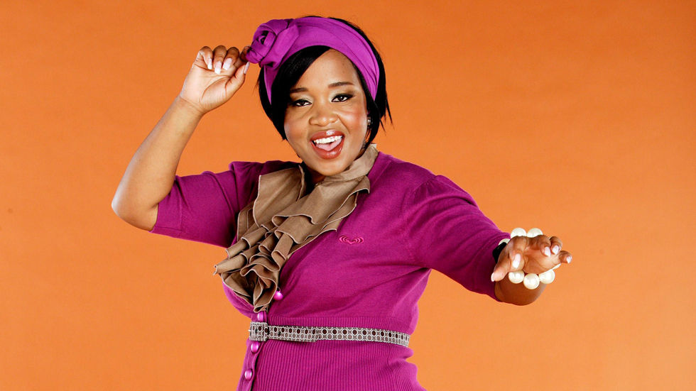 An image of Winnie Mashaba who hosts Amahubo on Dumisa.