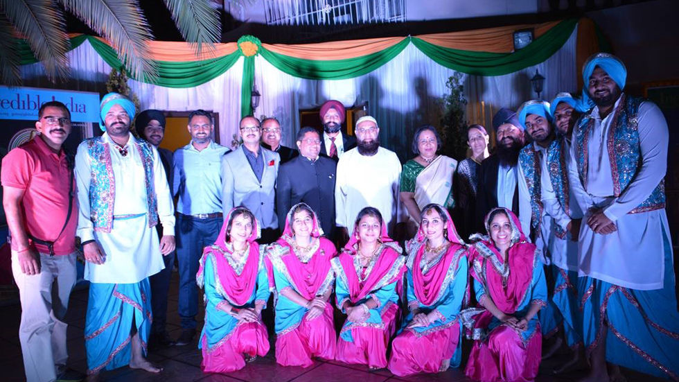 Zee TV Africa staff celebrating The India Republic Day in Johannesburg