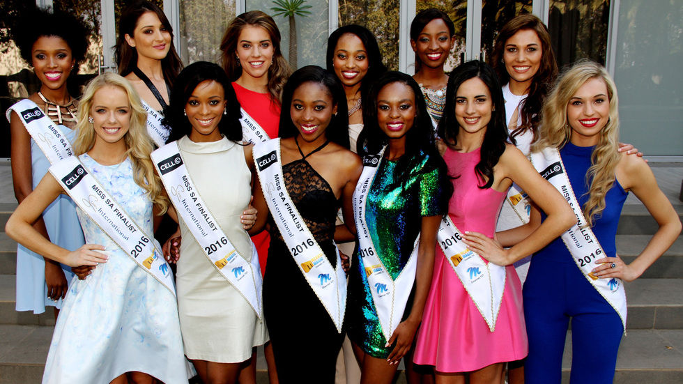 Miss SA Top 12 finalists.