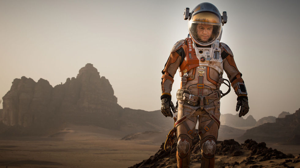 Matt Damon in The Martian.
