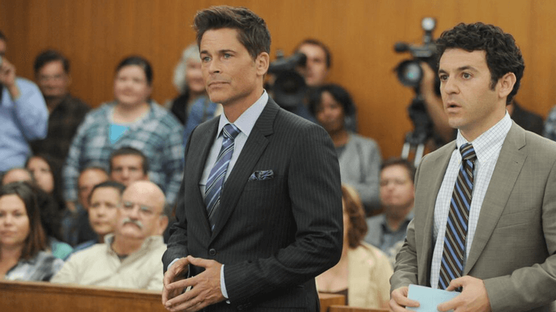 Rob Lowe from the TV series The Grinder.
