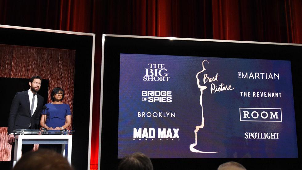John Krasinski and Cheryl Boone Isaac announce the nominees for the 88th Academy Awards