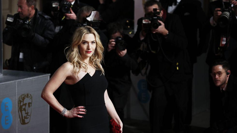 Kate Winslet, British Awards, black, dress