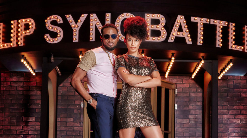 D'Banj and Pearl Thusi - hosts for Lip Sync Battle Africa