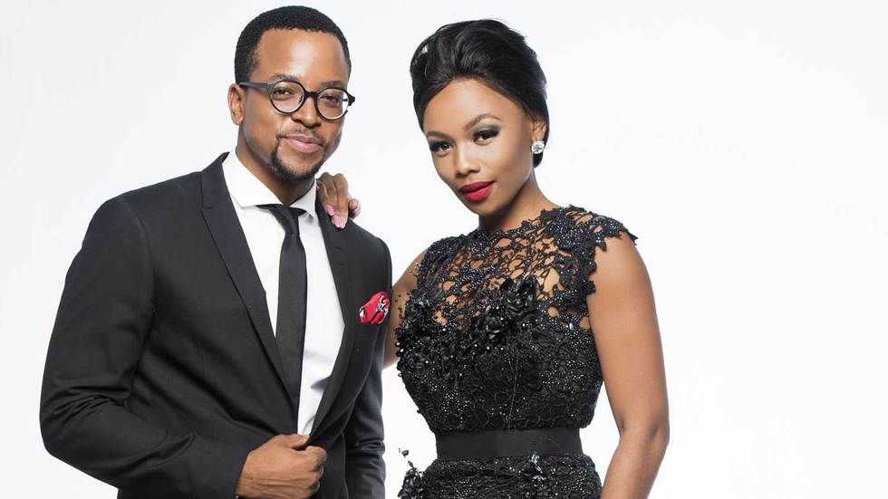Bonang Matheba and Maps Maponyane.
