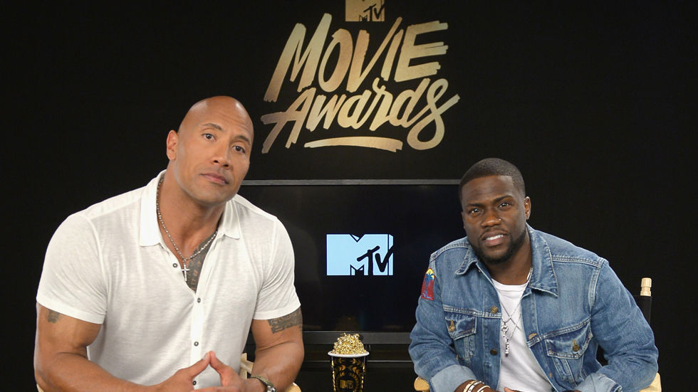 Dwayne Johnson and Kevin Hart - hosts for the 2016 MTV Movie Awards