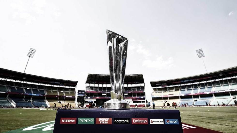 The World T20 trophy.