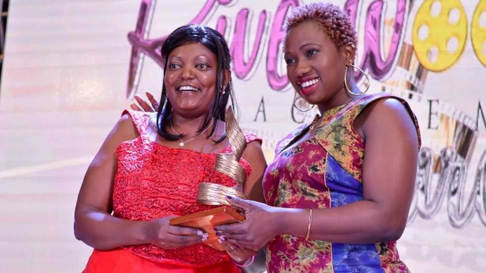 Peris Wambui wins Best Actress in a TV Series (Ngaheha Cia Wendo) in Kenya's Riverwood Awards