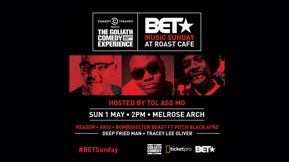 BET Music Sunday at Roast Cafe promo artwork.