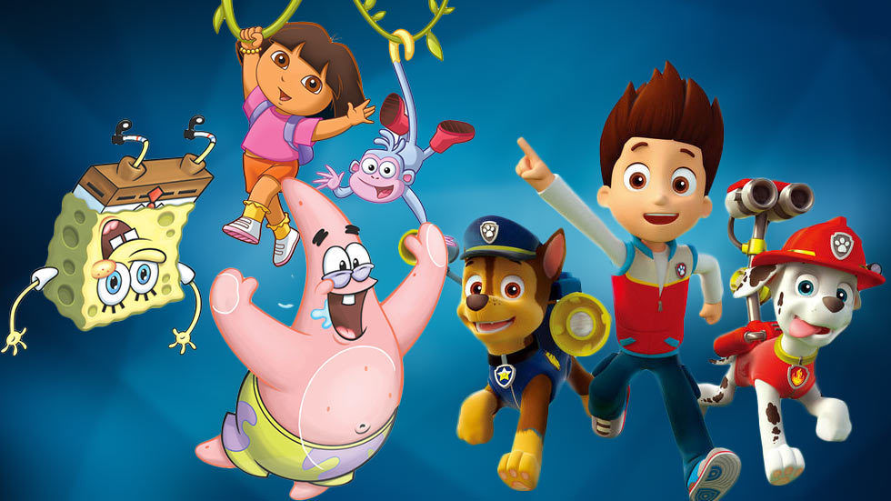 An image with Spongebob, Paw Patrol and Dora the Explora