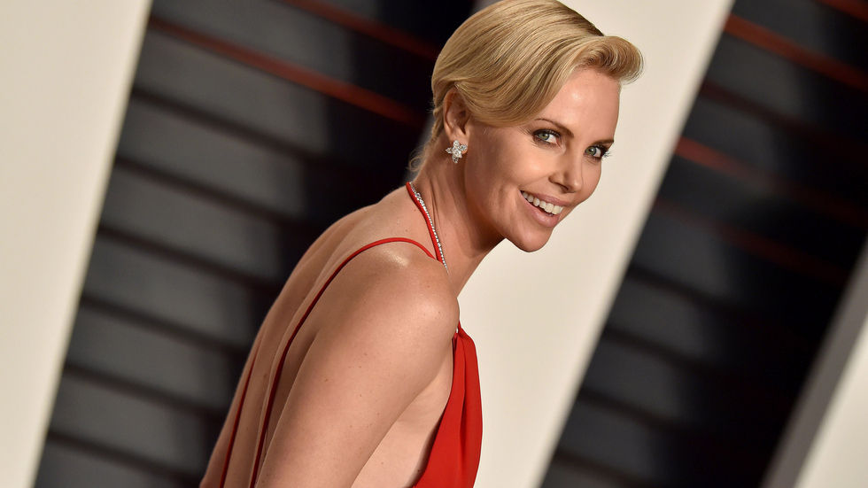 Charlize Theron at the Vanity Fair party