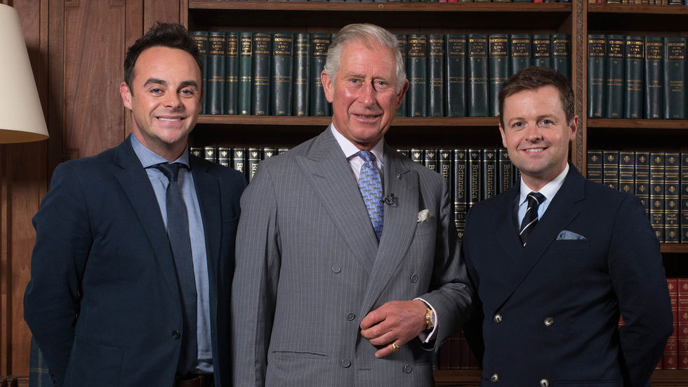 The Prince of Wales with Ant and Dec