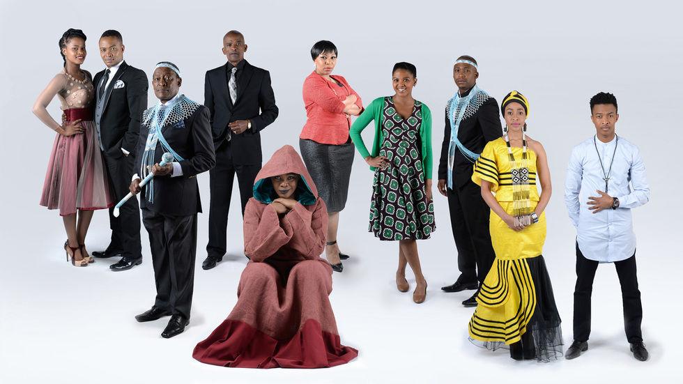 The cast of Mzansi Magic's new series, Igazi.