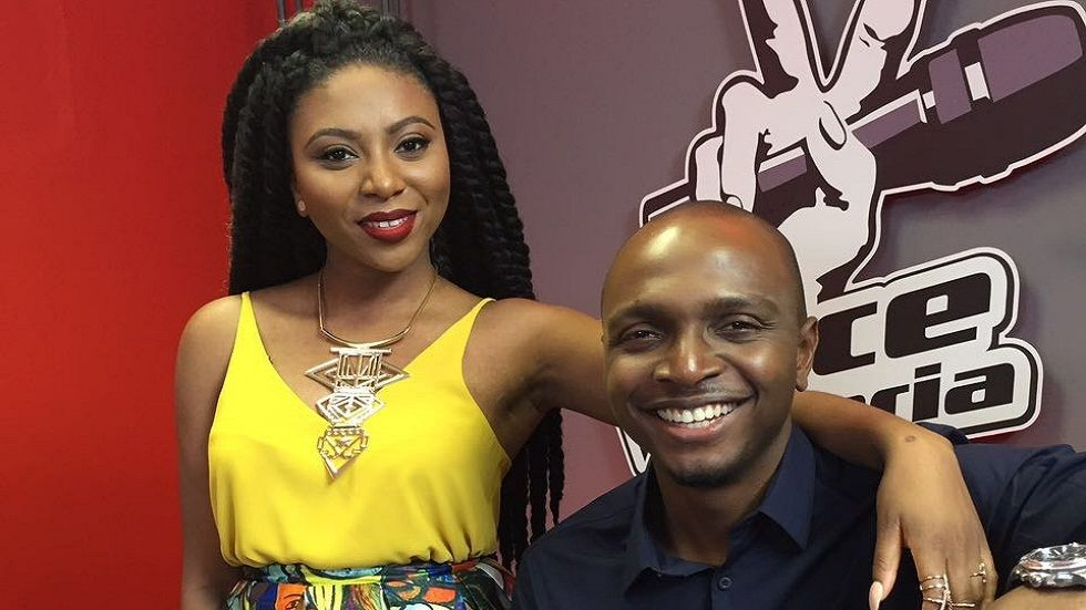 IK and Stephanie Choker, presenters of The Voice Nigeria