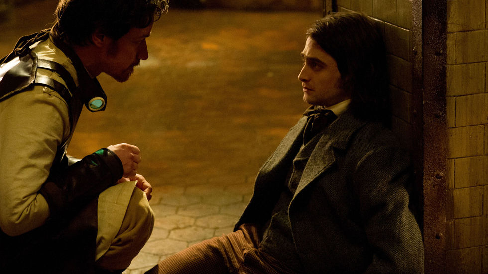 A still from Victor Frankenstein.