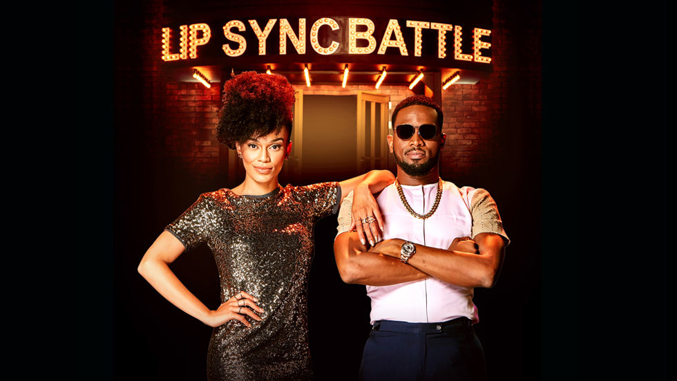 An image of Pearl and D'Banj who host Lip Sync Battle Africa
