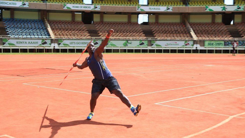 World Championship javelin gold medalist Julius Yego
