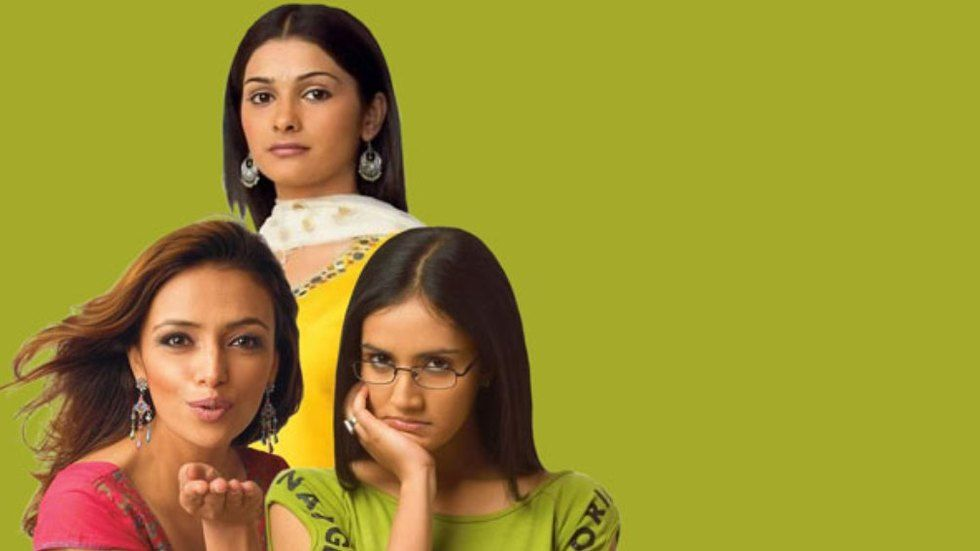 The three leads of The promise on Zee world with a green background