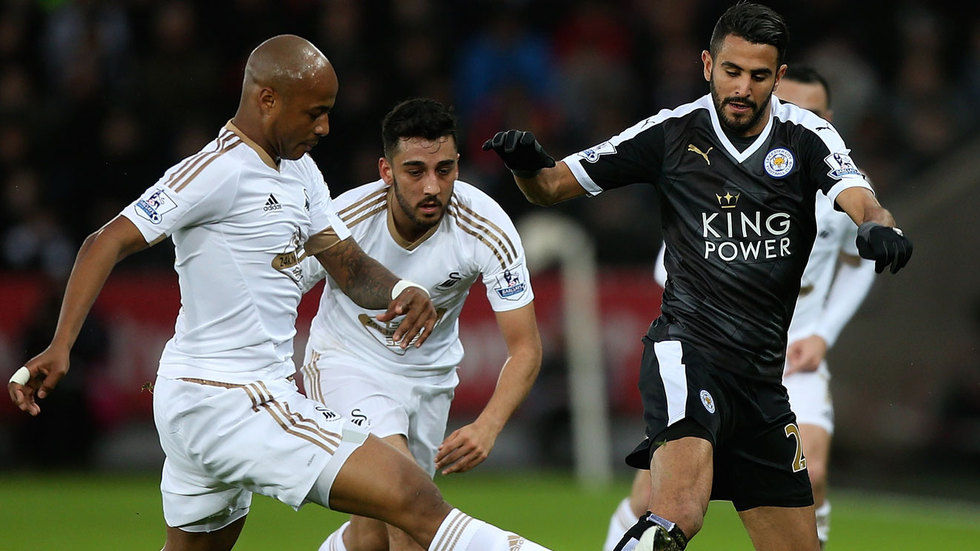 Riyad Mahrez in action.