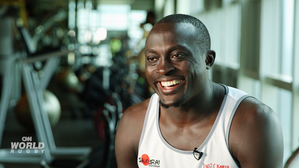 Kenya Sevens player Collins Injera