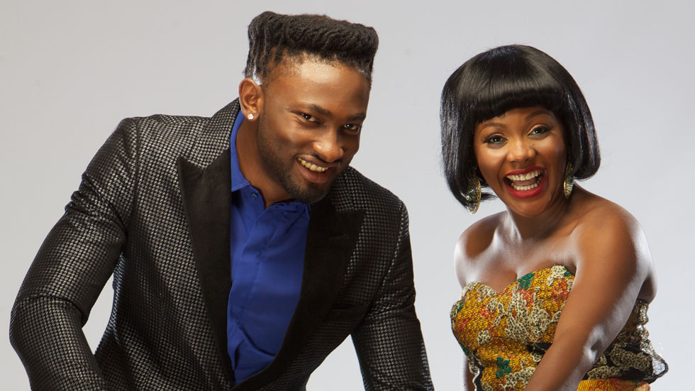 Uti and Helen - hosts for Jara on Africa Magic Showcase