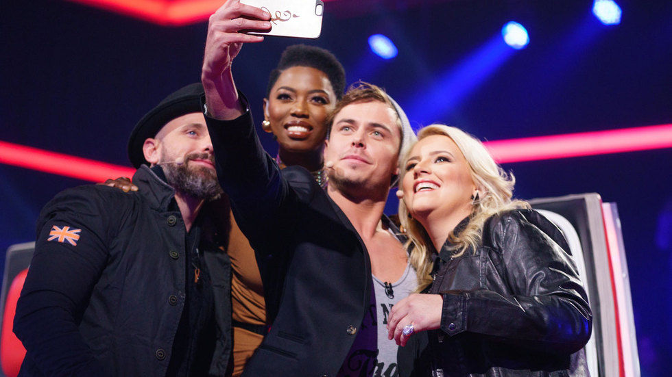 The judges of the The Voice SA take a group photo.