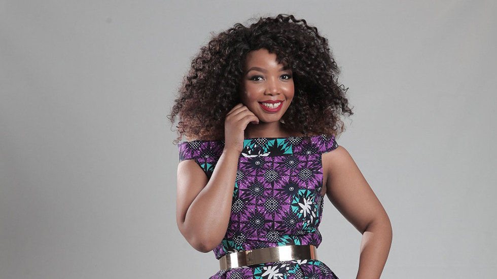 An image of the new host of Our Perfect Wedding Thembisa Mdoda