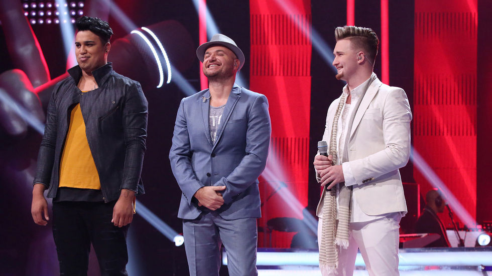The Voice SA contestants on stage.
