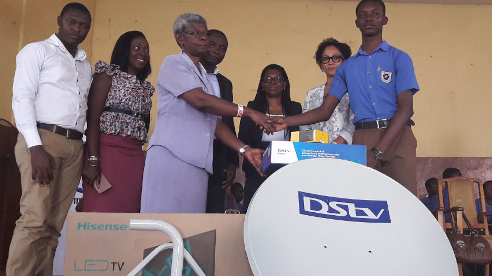 Ayawen Asuinura, Ghanaian winner of the DStv Eutelsat Star Awards