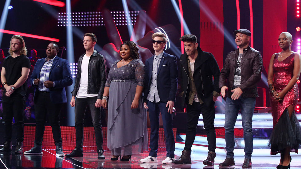 The top 8 finalists of The Voice SA.