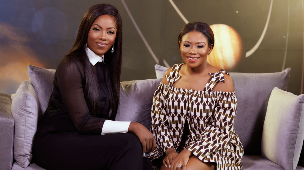 Tiwa Savage and Dolapo in the E! VIP series