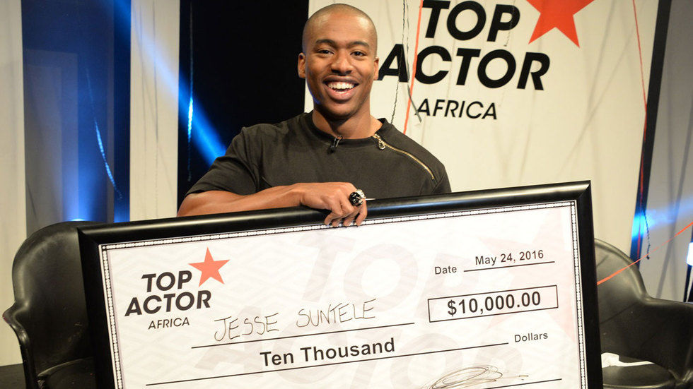 Jesse Suntele, the winner of Top Actor Africa.