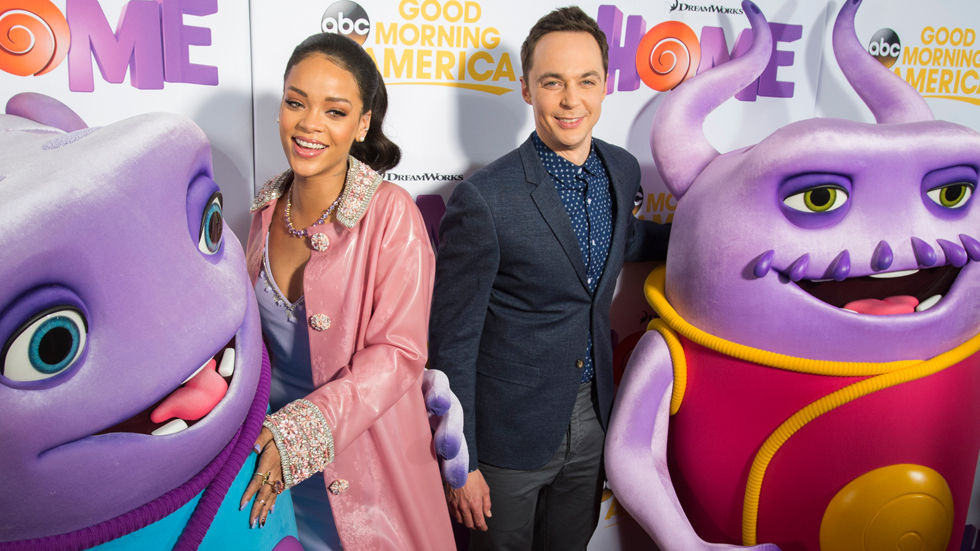 Rihanna and Jim Parsons on the red carpet for Home