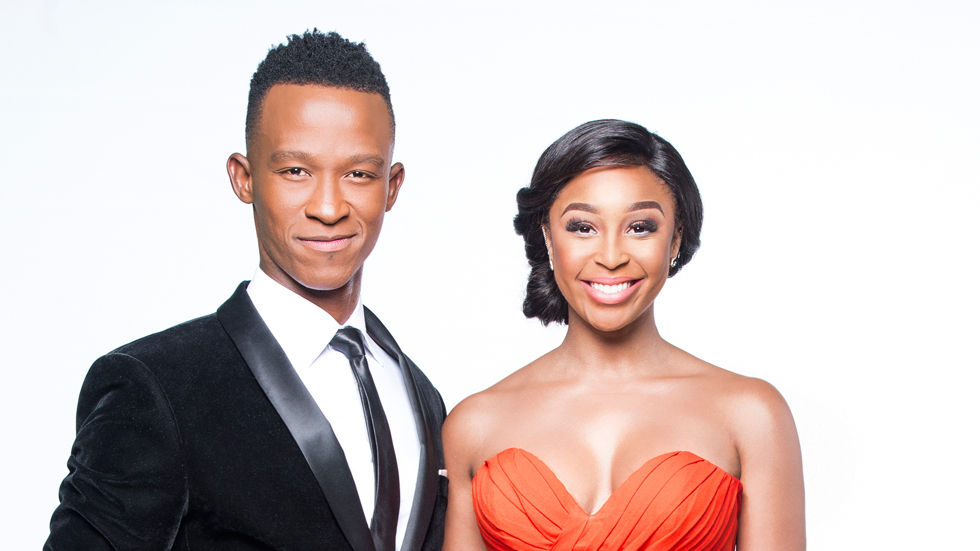 Hosts Minnie Dlamini and Katlego Maboe.