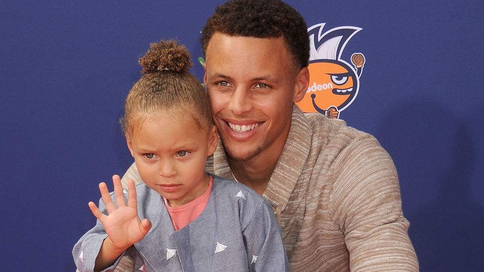 Basketball player Stephen Curry and his daughter Riley
