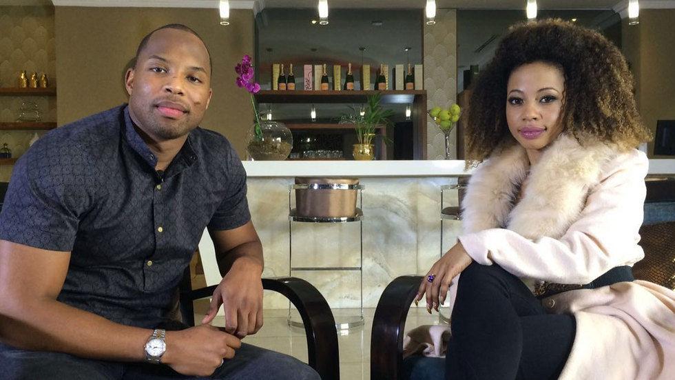 Sizwe Dlomo and Kelly Khumalo.