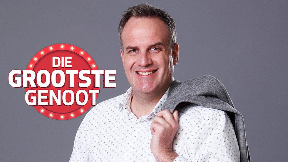 The host Die Grootste Genoot, Rian van Heerden.
