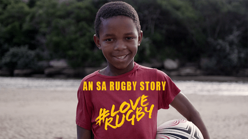 An SA Rugby Story - #Love Rugby Image. Boy with Rugby ball.