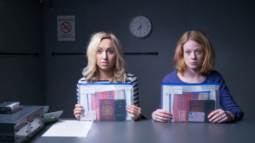 Stars of Witless, Kerry Howard and Zoe Boyle.