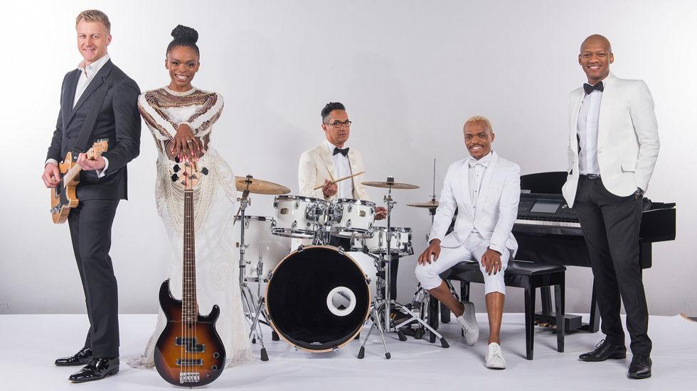 An image of the Idols SA judges Unathi, Somizi, Gareth and Randall