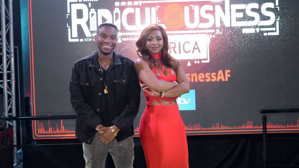 An image of host Thomas Gumede and co-host Boity Thulo