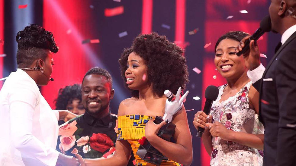 Arese is named and crowned the winner of The Voice Nigeria